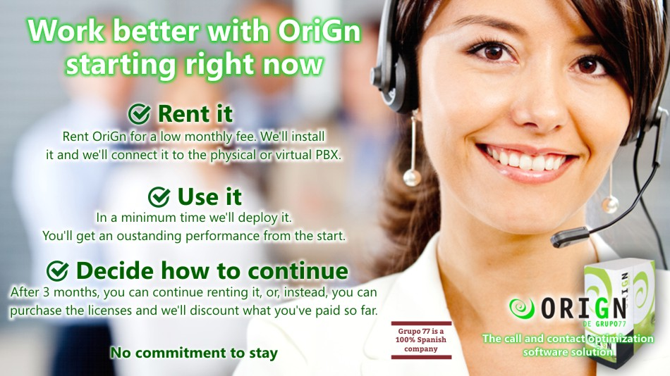 Call center software to rent